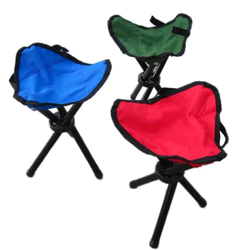 Outdoor Foldable Tripod Triangular Folding Fishing Chairs