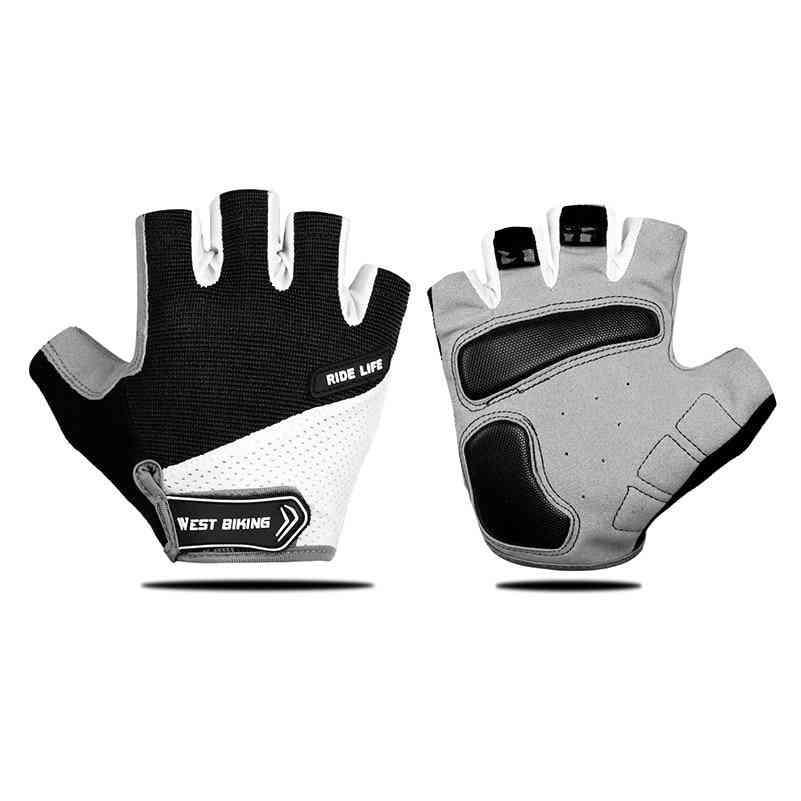 Half Finger Cycling Anti-slip Pad, Motorcycle Road Bike Sports Gloves