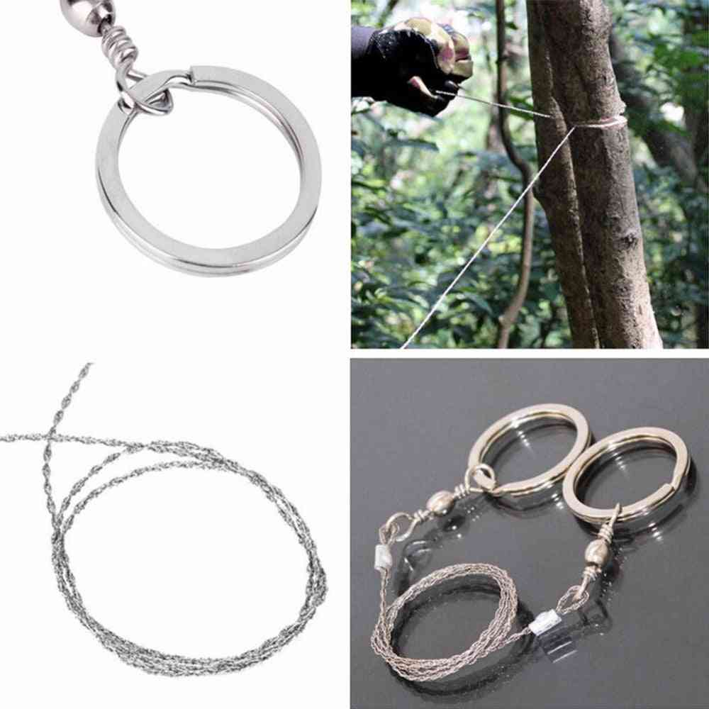 Emergent Survival Outdoor Mountain Climb Cut Hunt Fish Hand Saw Bushcraft Kit Tool Wire
