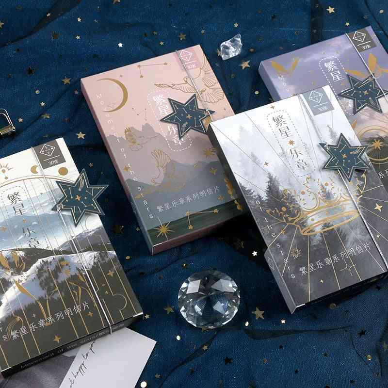Creative Movement Of The Stars Bronzing Postcard
