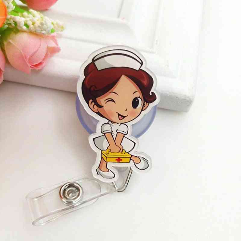 Cute Cartoon Design, Retractable Badge Reel Holder