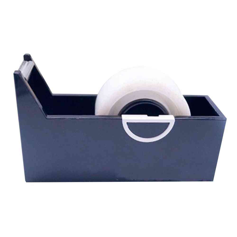 Creative Square Shaped, Plastic Tape Dispenser With Cutter