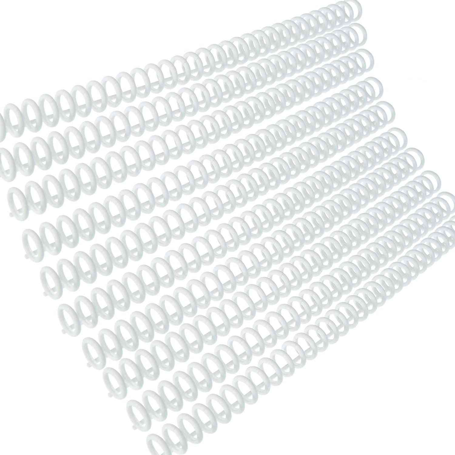 Plastic Hole Loose Leaf Binders Ring Spines Combs Sheets Capacity Notebook Album