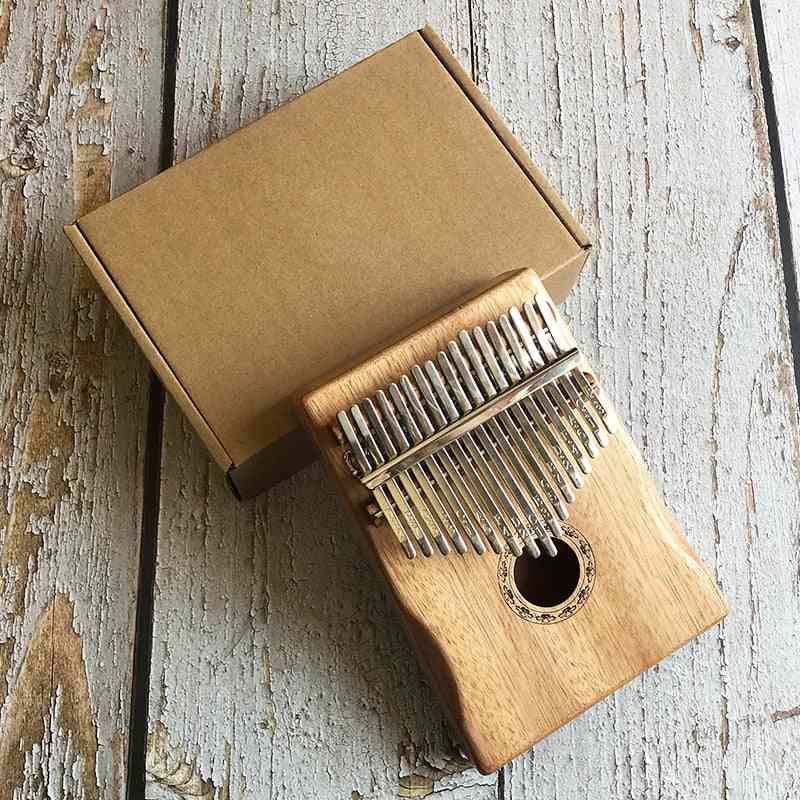 Engrave Mahogany Wood Thumb Finger Piano