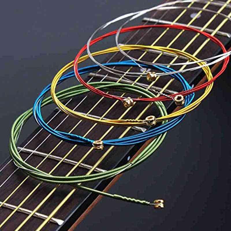 Acoustic Guitar Strings Rainbow Colorful E-a Acoustic Folk Classic Multi Color