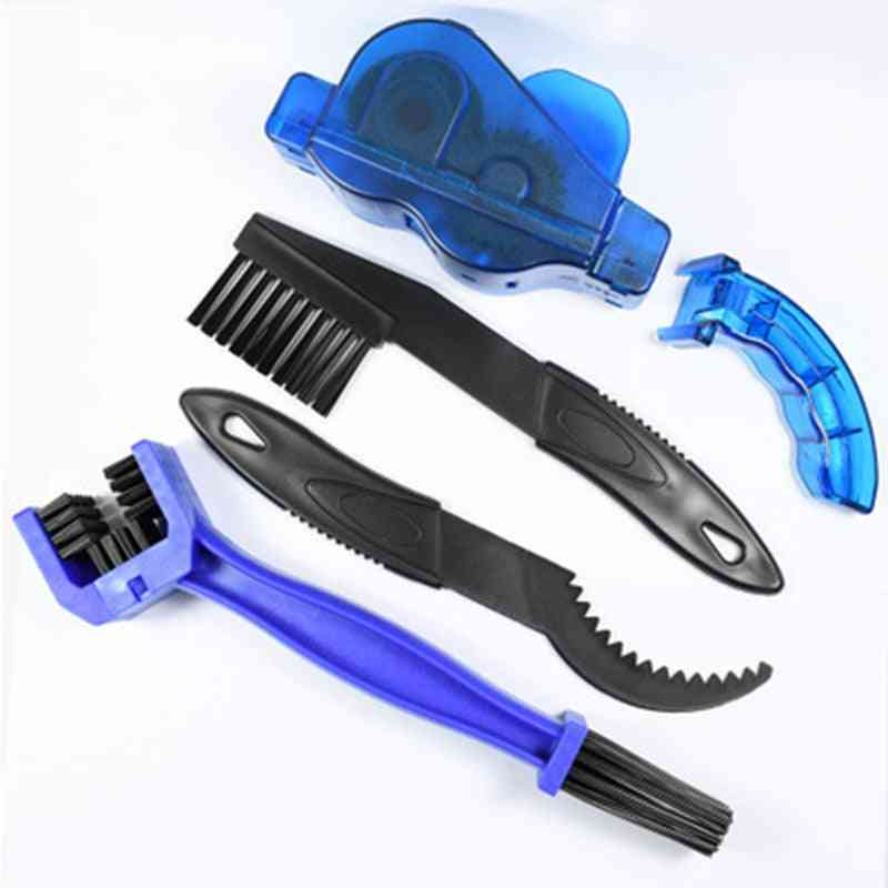 Portable Bicycle Chain Cleaner, Bike Brushes Scrubber Wash Tool
