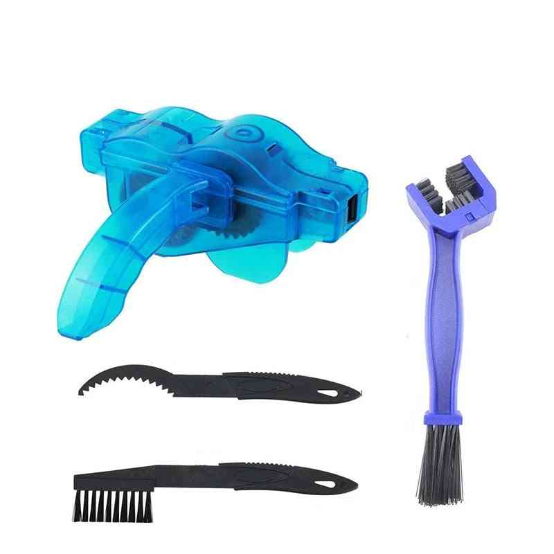 Bicycle Chain Cleaner Sets, Machine Brushes Cycling Cleaning Kit