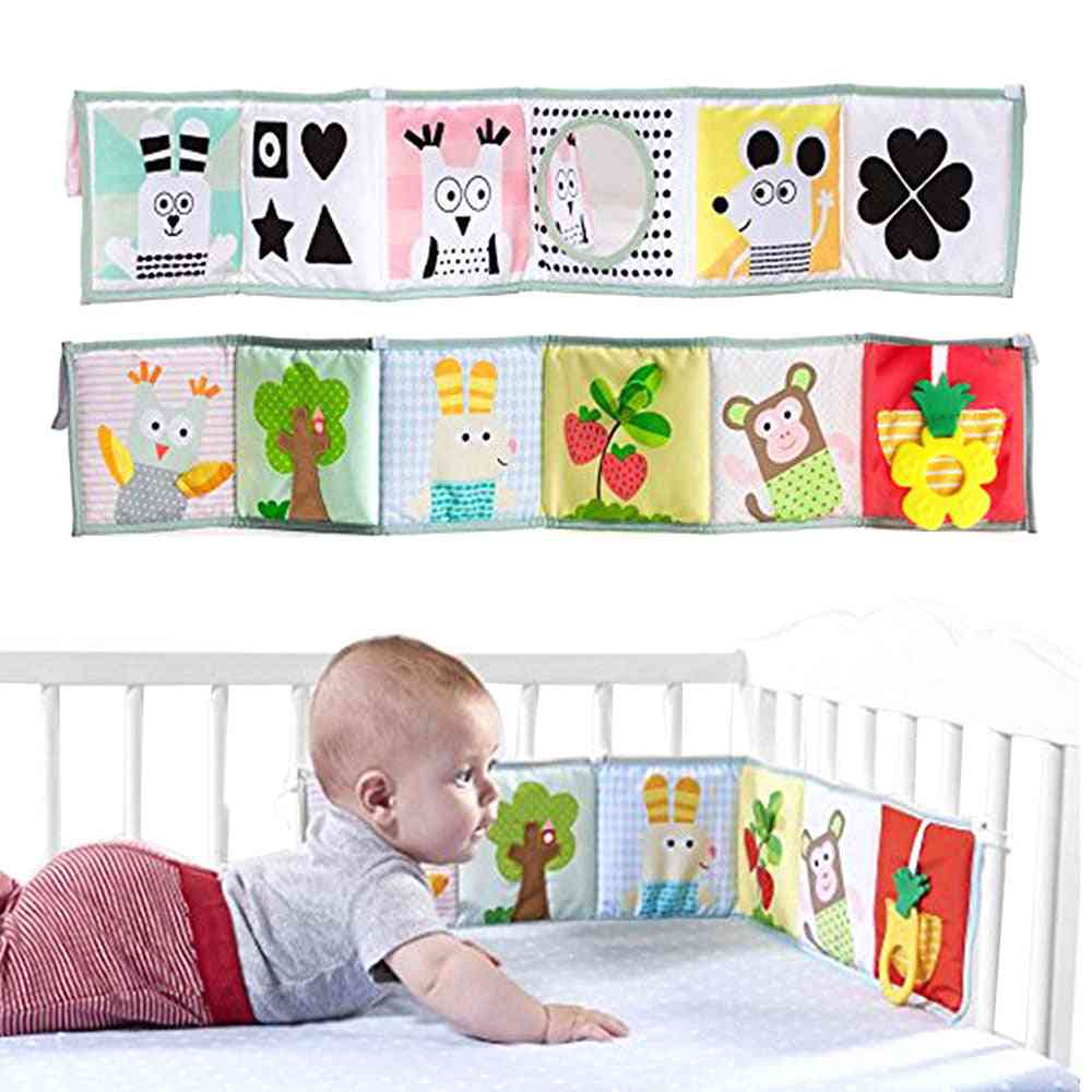 Baby Crib Bed Bumper Cloth Book For Newborn Rattles