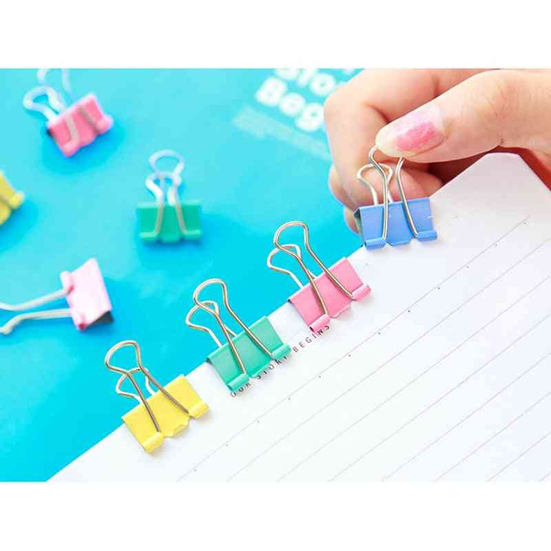 Metal Paper Binder Clips, Office Supplies Stationery
