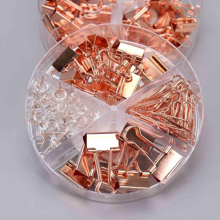 Metal Clip, Large-headed Binder Clips Office Binding Supplies