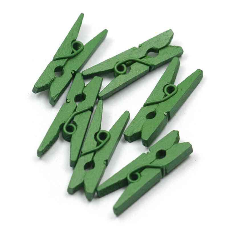 Mini Spring Clips, Clothes Photo Paper Peg Pin Clothespin