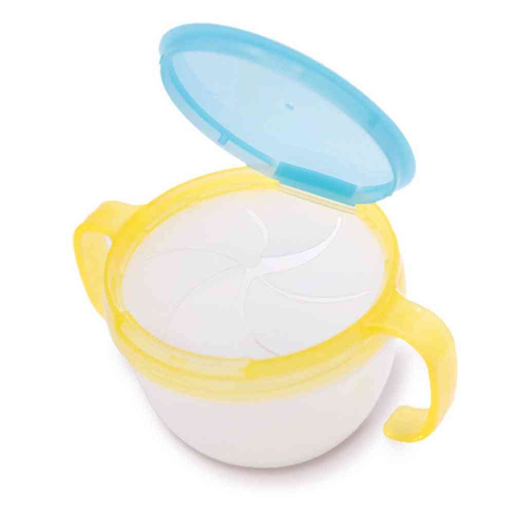 Baby Plastic Snacks Catcher Double Handle Snack Cup, Jar Bowl Spill-proof Container Box