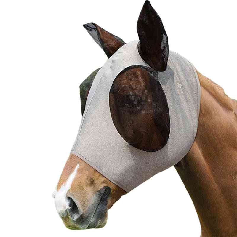 Anti-mosquito Repellent Horse Mask, Mesh Horsefly Flying-mask Equestrian