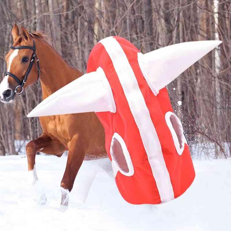 Plush Lined Horse Headwear-warm Clothing