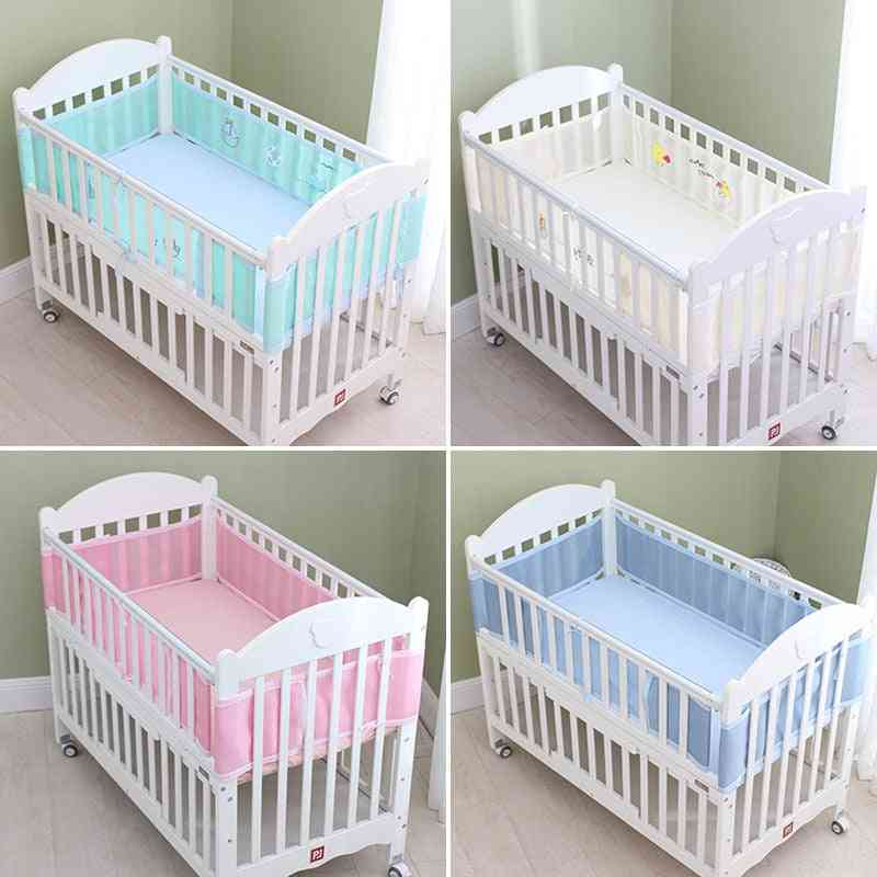 Baby Bedding Set, Bumper Mesh Summer For Head Protector