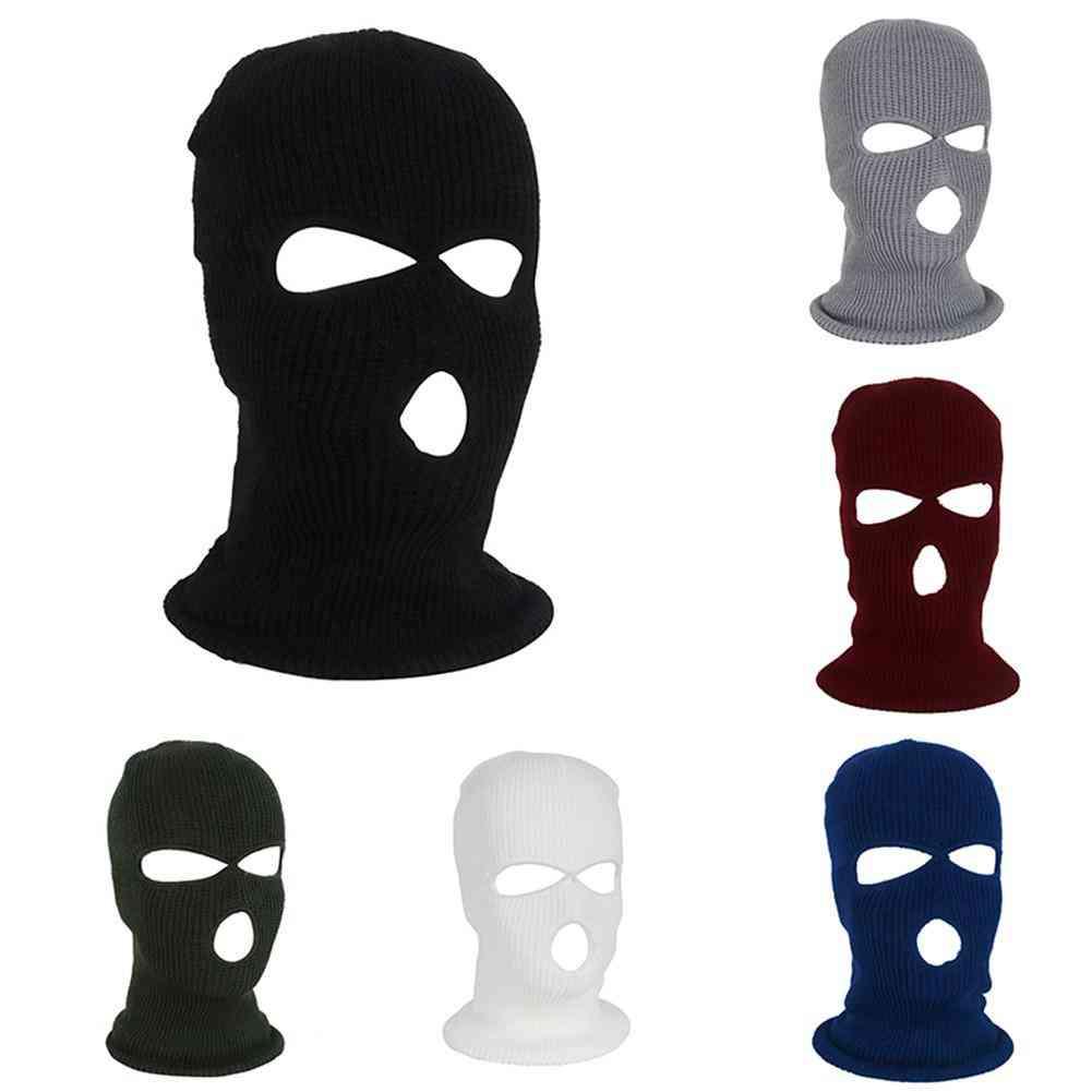 Knit Thermal Full Face Cover Ski Mask