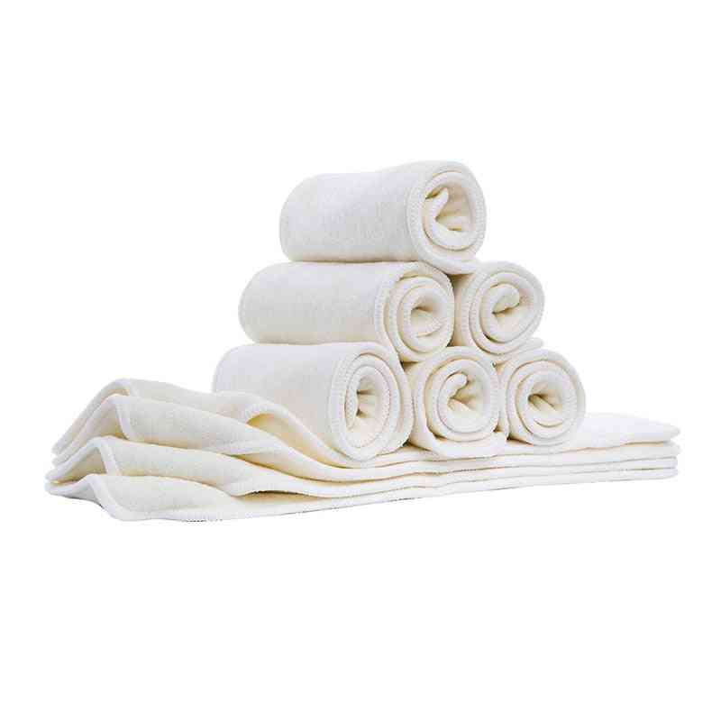4 Layer Bamboo & Microfiber Inserts With Snap For Babies
