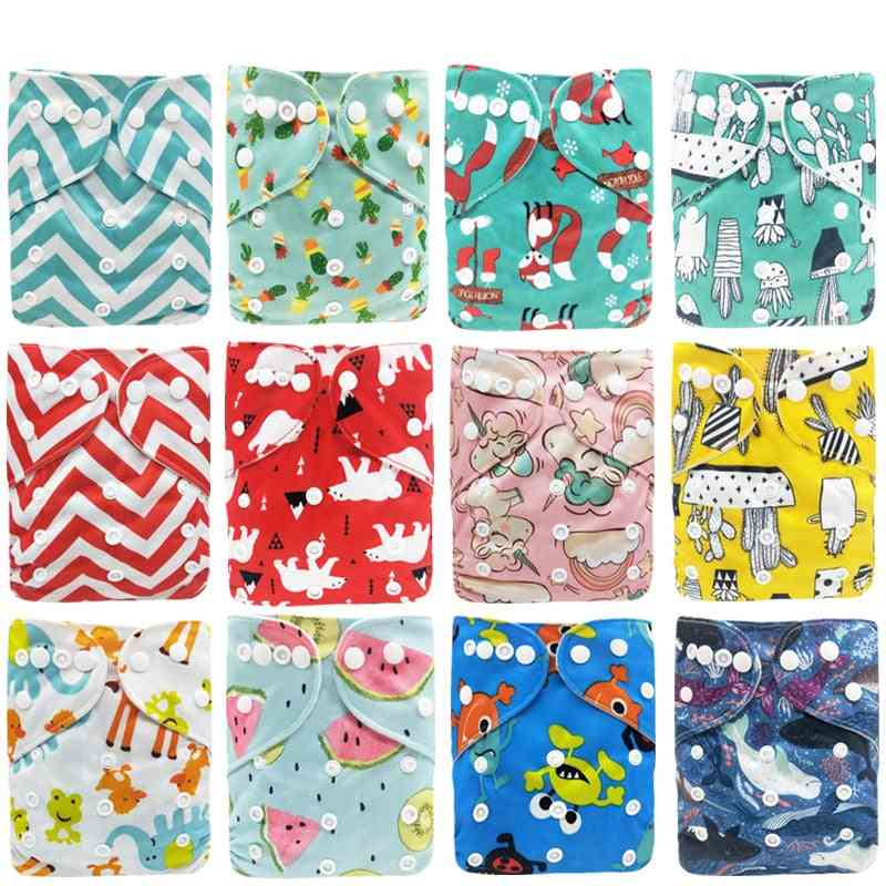 Baby Reusable Waterproof, Printed Diapers Pocket, Cloth Inner Diaper Cover