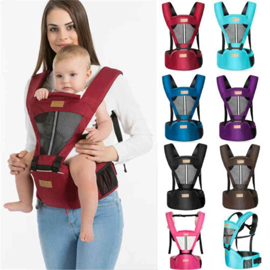 Multi-functional Baby Carrier With Removable Hip Seat-waist Support Stool