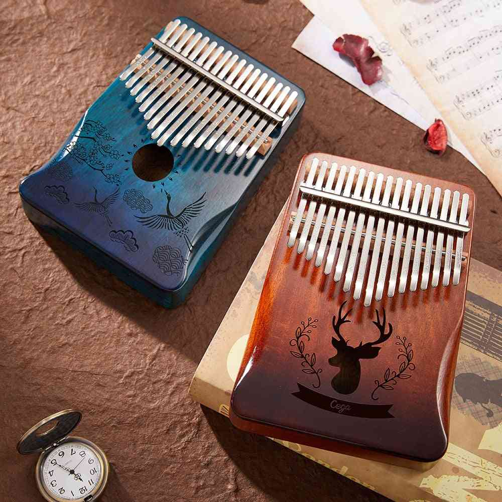 Kalimba 17 Key Mahogany Thumb - Piano Musical Instrument