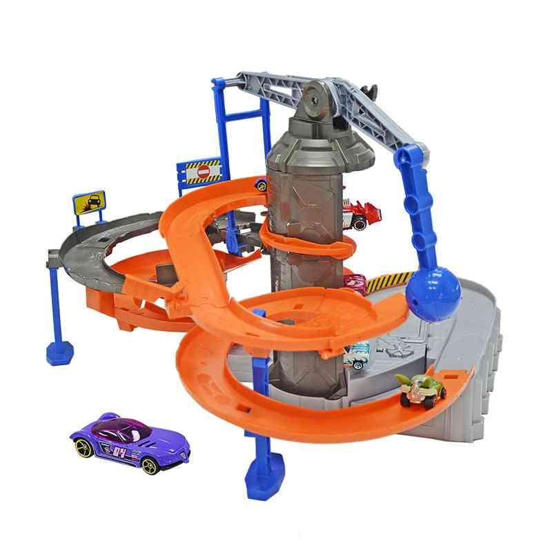 City Adventure Electric Scene Track Set Toy, Giant Motorized Action