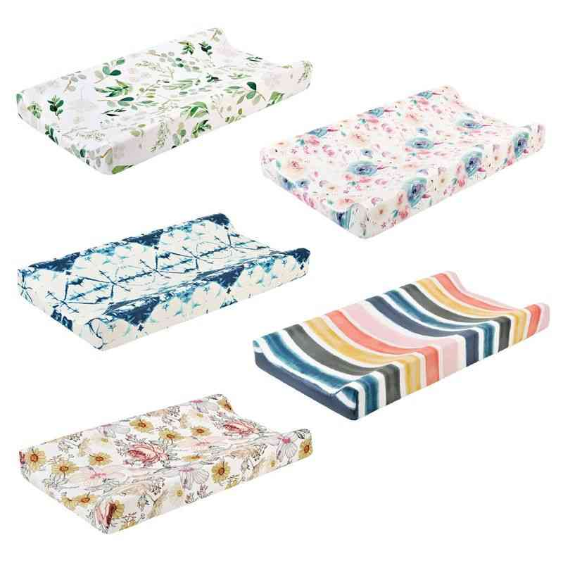 Soft Baby Diaper Changing Pad Cover, Detachable Mattress Crib Bed Sheet