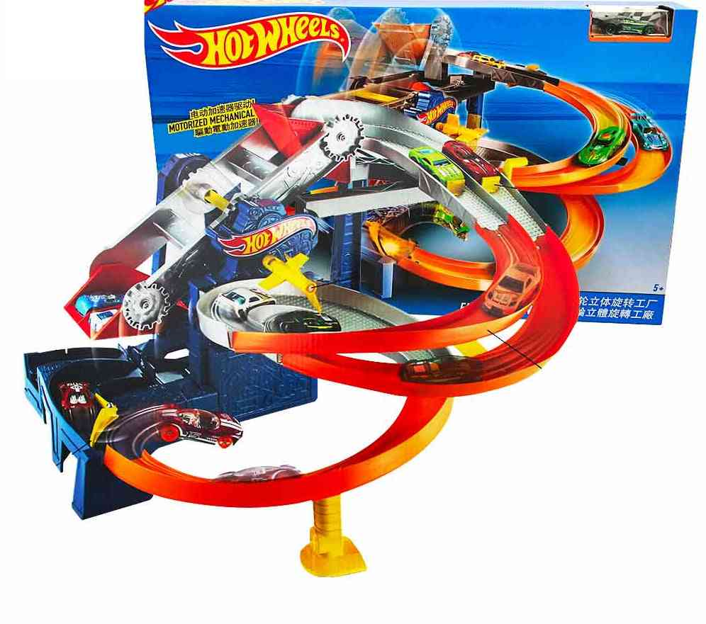 Roundabout Electric Carros Track Model Cars & Train Plastic Metal Toy