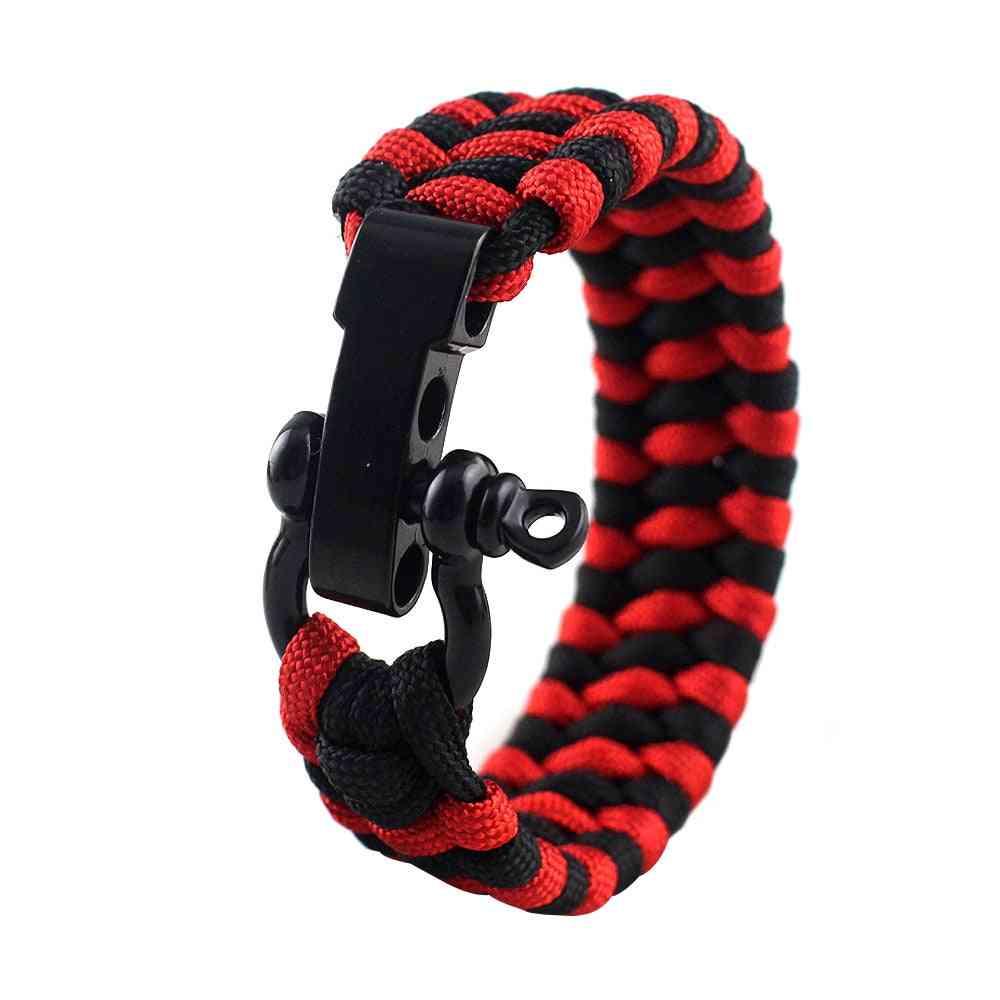 Tactical Braided Survival Paracord Bracelets