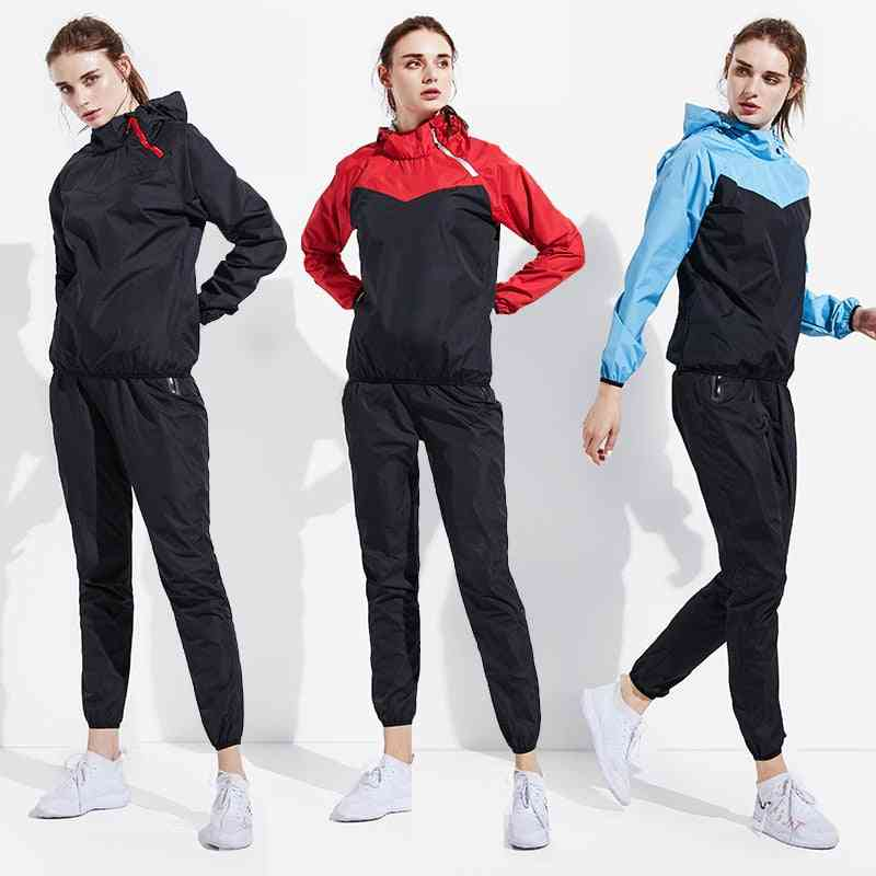 Men & Women Pullover Hoodies / Tops Running Fitness Exercise Sportswear, Weight Loss Sweating Sports Suit