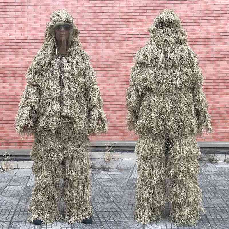 3d Withered Grass Ghillie Suit-camouflage Clothing