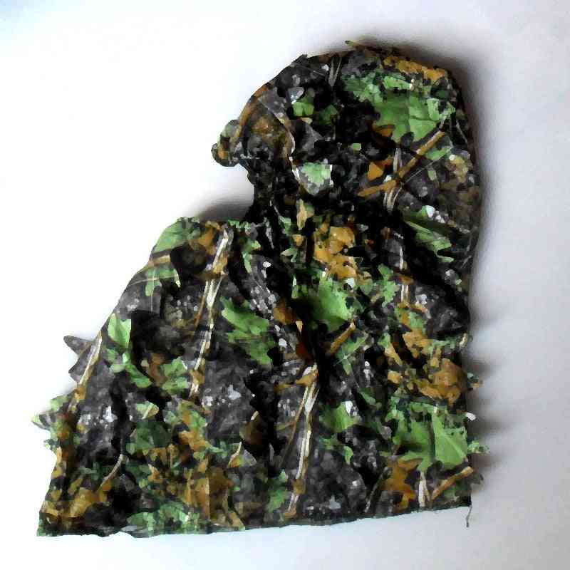 Leafy Poncho Jungle Ghillie Suits, Hunting Camouflage 3d Bionic Leaf