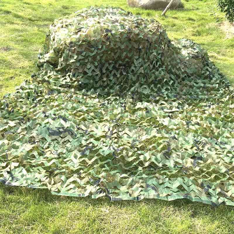 Camping Camo Net, Army Woodland Jungle Camouflage Nets, Sun Shelter Car Tent