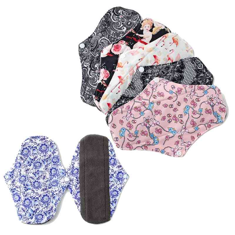 Washable Sanitary Pads, Night Daily Heavy Flow Panty Liner Reusable Menstrual Pad