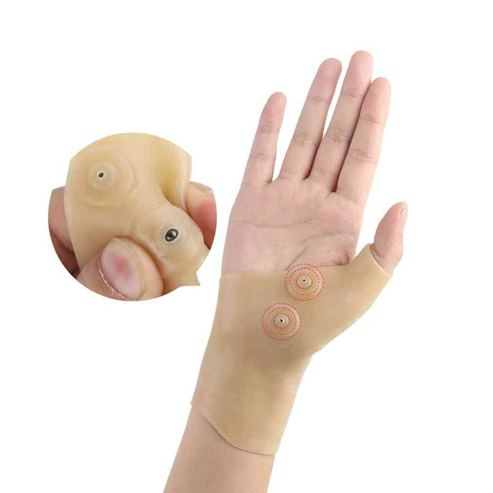 Waterproof Soft Silicon-pain Relief, Magnetic Thumb Corrector Glove