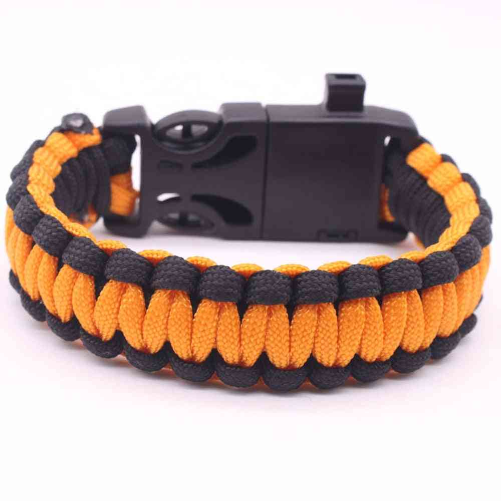 Military Emergency Paracord Edc Bracelet Rope Outdoor Tactical Wrist Strap Survival Tools