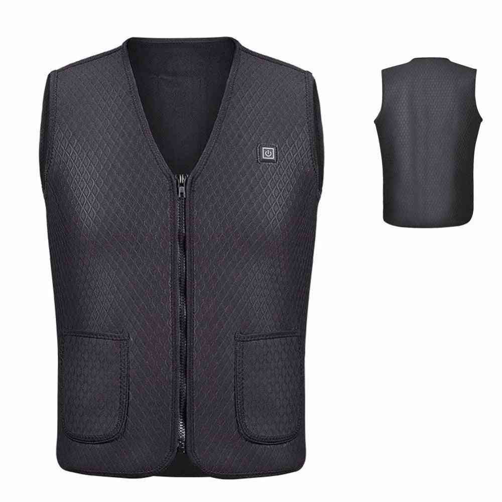 Men & Women Outdoor Usb Infrared Heating Vest Jacket, Electric Thermal Clothing