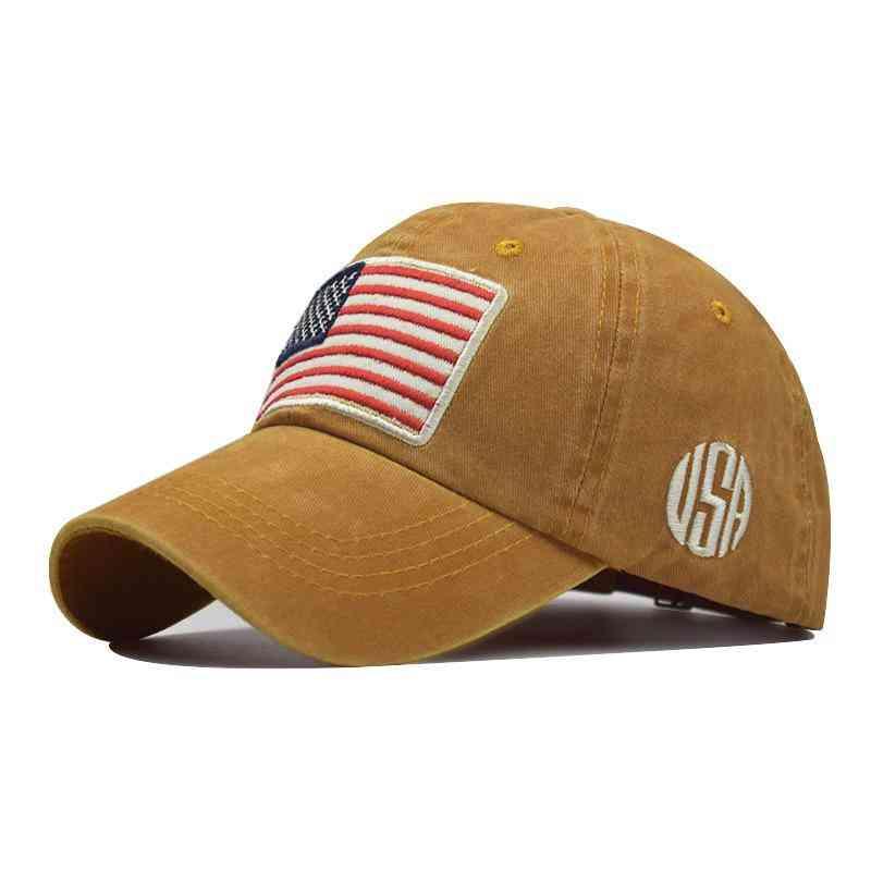 Fashion Usa Flag Baseball Cap & Women