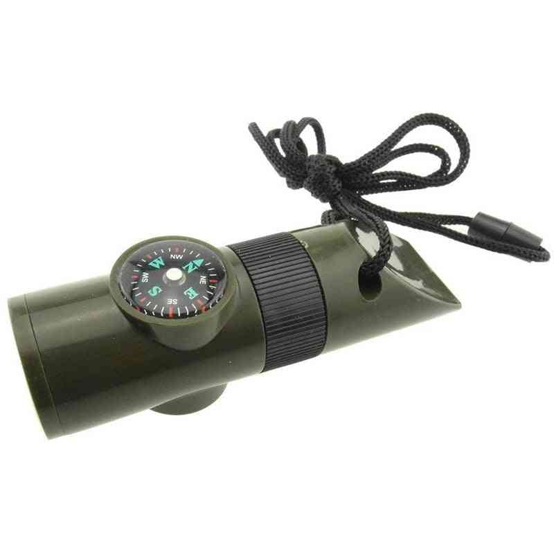 Outdoor Emergency Survival Whistle Compass