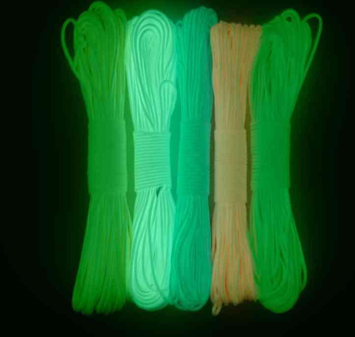 Glow In The Dark Luminous Lanyard Rope 7 Strands Cores Outdoor Survival