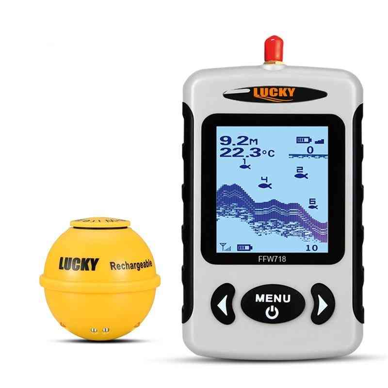 Wireless Portable Fish Finder, Sonar Depth Sounder Alarm For Ocean River Lake