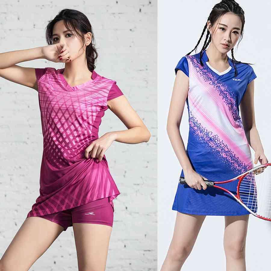 Girls Sports Dress, Inner Shorts Tennis Gym Running Sportswear Dresses