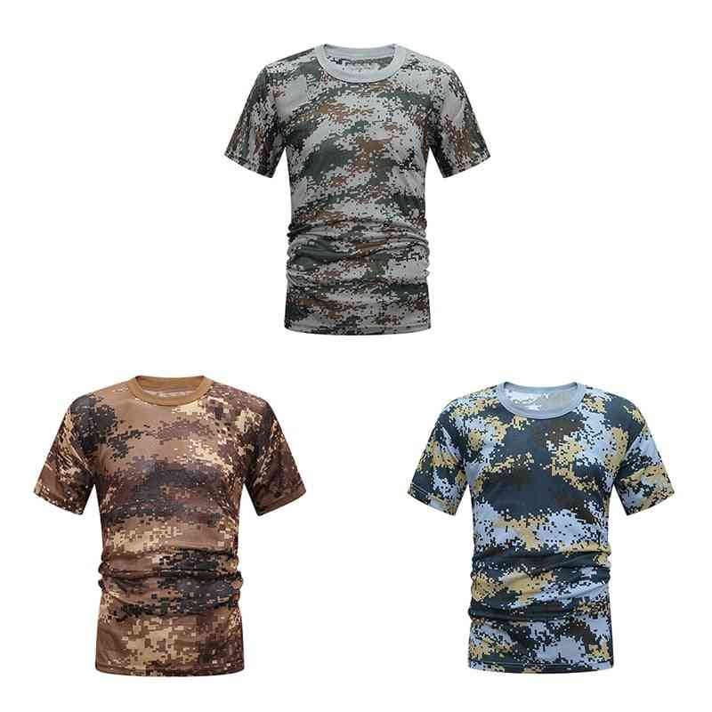 Tactical Hunting Camo Shirt, Breathable Quick Drying Loose Tee Tops