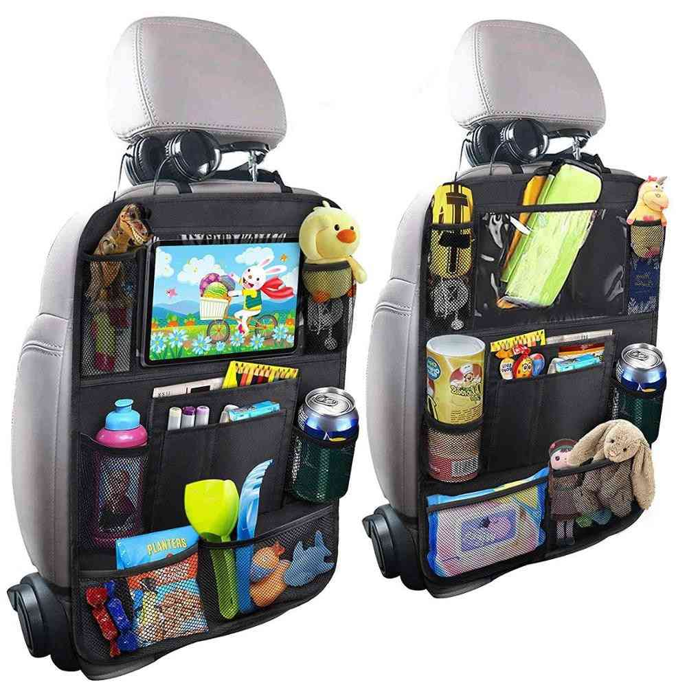 Children Seat Storage-kickproof Back Cover, Touch Screen Storage Bag