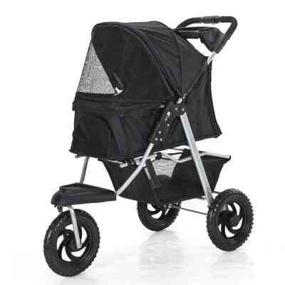 Safe Pet-bag Pet Stroller Dog Cart, Folding Removable And Washable
