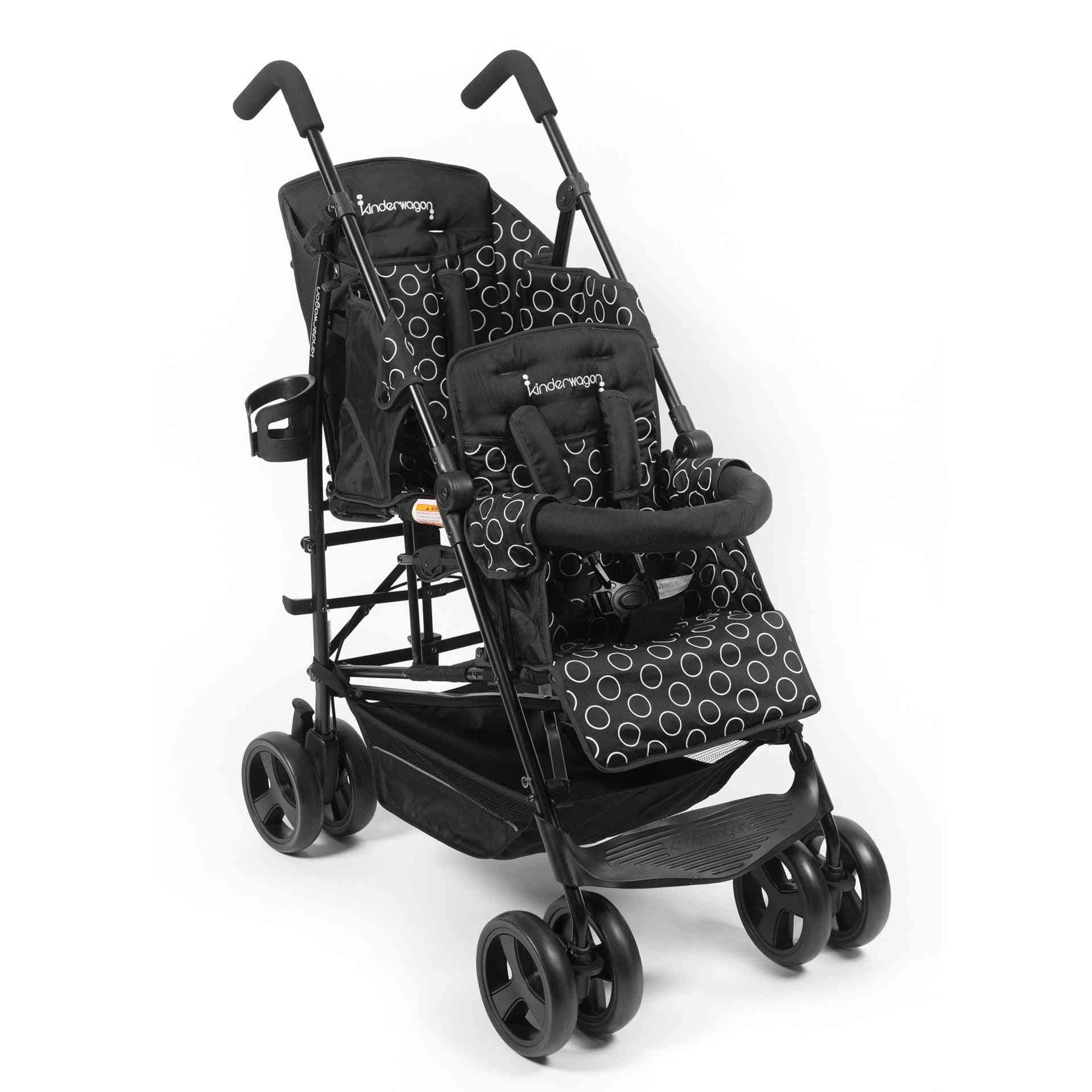 Twin Baby Trolley Portable Umbrella Car Can Sit And Lie Down Four Wheel Stroller