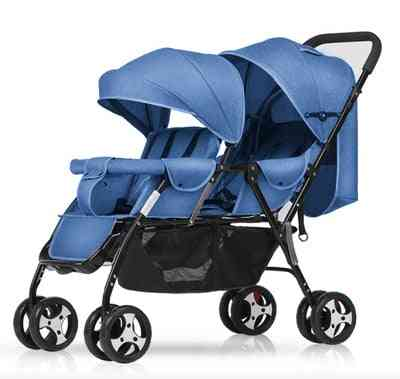 Double Baby Twin Stroller, Portable Folding Front And Rear Seat