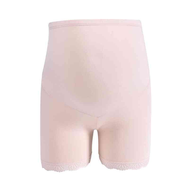 Maternity Leggings-breathable Lace High Waist Short