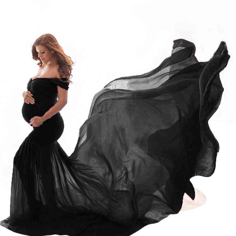 Long Maternity Photography Props Pregnancy Dress For Photo Shooting