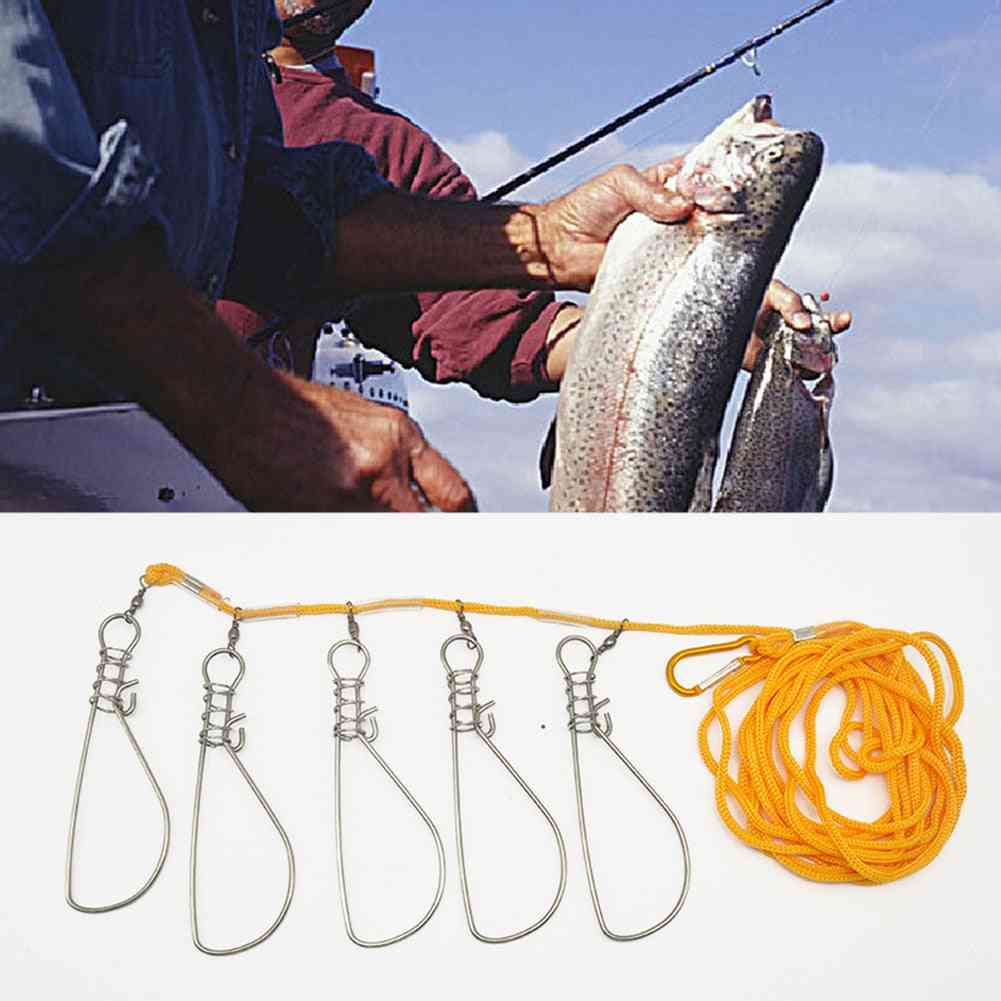 Fishing Lock Buckle, Stainless Stee Fish Locks Belt Stringer Fishings Tackle