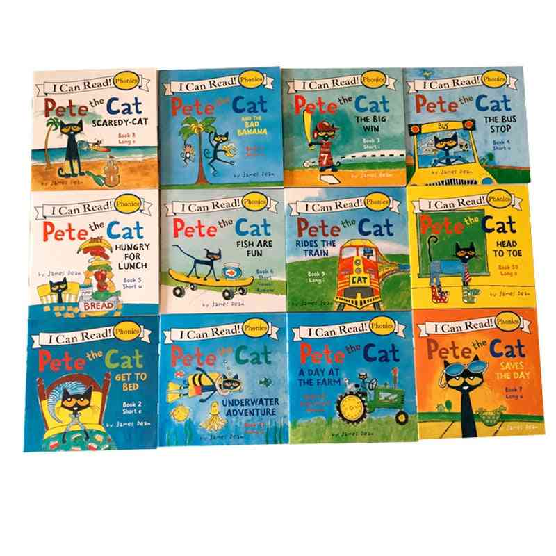 12 Book/set-i Can Read 'the Pete Cat' English Books